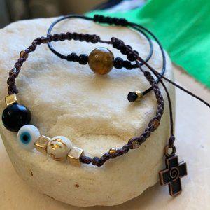 Protection obsidian evileye 🧿 spiritual bracelet